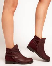 womens boots asos lyst asos altitude leather jodhpur boots in purple