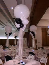 halloween led balloons black u0026 white wedding balloon centerpieces with led votives