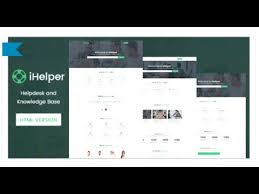 ihelper helpdesk and knowledge base template html by timothemes