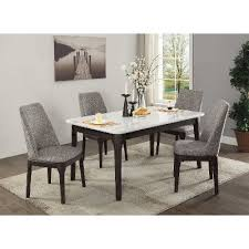 dining room pieces white marble and charcoal 5 piece dining set janel rc willey