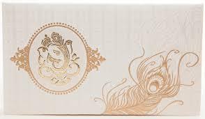 ganesh wedding invitations ganesh wedding invitations hindu wedding card in ivory with