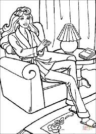 barbie thumbelina coloring pages barbie sits in a chair coloring page free printable coloring pages