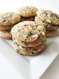 skinny holiday confetti cake mix cookies u2014 the skinny fork