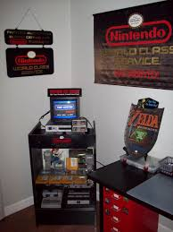 na nintendo service center display case setup