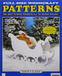 Christmas Outdoor Decorations Patterns Wood by Santa U0027s Wood Sleigh Santa U0027s Sleigh Large Size Wood Craft Pattern