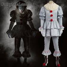 Mens Clown Halloween Costumes Aliexpress Buy Stephen King U0027s Pennywise Cosplay Costume