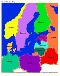 map of countries surrounding germany stydying the baltic sea