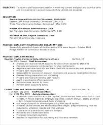 Staff Accountant Resume Sample by Accountant Resumes Sample Resume For Accountant Resume Examples
