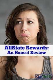 allstate commercial actress bonus check allstate rewards an honest review club thrifty