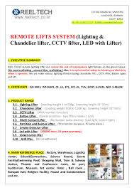 Chandelier Lift System Save Costs For Lighting Maintenance Cost