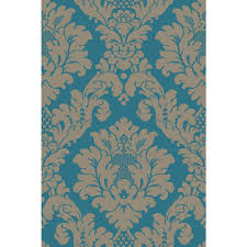arthouse da vinci damask teal and gold wallpaper ideas for the