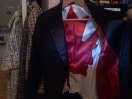Flag Suit The Inside Of This Suit Jacket Is A Canadian Flag Mildlyinteresting