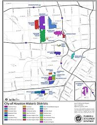 houston map districts city of houston historic preservation manual historic districts