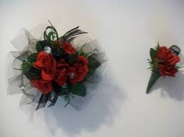 Corsage For Homecoming Red Wrist Corsage Prom Corsage Homecoming Corsage Wedding