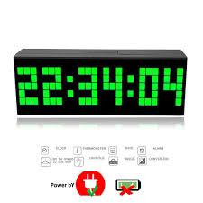 t harger horloge de bureau 23 5cm trois dimension pendule murale électronique moderne grand