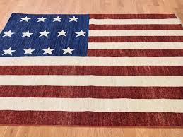5 u0027x7 u0027 pure wool hand knotted civil war design flag oriental rug