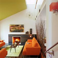 Orange Sofa Living Room by Sparkling Ceiling Room Dividers Interesting Ideas With Orange Sofa