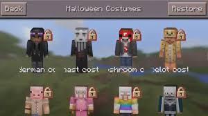 Craft Halloween Costumes Minecraft Pocket Edition Update Halloween Skin Pack Showcase