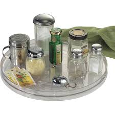 Glass Lazy Susan Turntable by Interdesign Linus Lazy Susan Turntable Spice Organizer Rack For