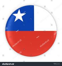 Chilian Flag Chilean Flag Button Flag Chile Badge Stock Illustration 446105092
