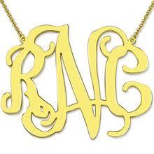 2 Inch Monogram Necklace Popular Monogram Gold Necklace Buy Cheap Monogram Gold Necklace