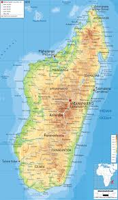 Geographical Map Of South America Physical Map Of Madagascar Ezilon Maps