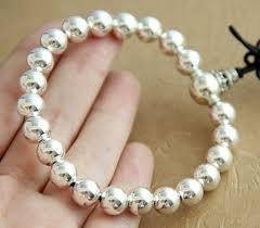 bead bracelet silver sterling images Handmade tibetan sterling silver mala beads bracelet jpg