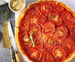 cuisiner des tomates s h s tarte à la tomate et à la moutarde recette de tarte à la tomate et