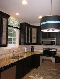 Cherry Cabinets And Backlit Frosted Glass Doors Reinke - Kitchen cabinets with frosted glass doors