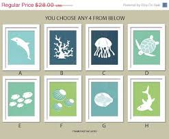 items similar to sea theme nursery ocean gallery set of 4 8x10