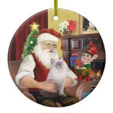 santa cat ornaments keepsake ornaments zazzle