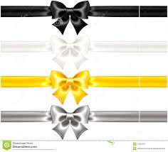 black and gold ribbon silk bows black and gold with ribbons illustration 34362597 megapixl