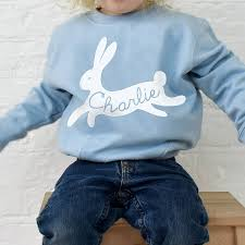 children s personalised bunny rabbit sweatshirt jumper by ellie