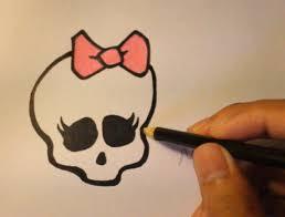 draw skull monster step step