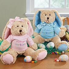 personalized easter bunnies personalized stuffed easter bunny baby s easter