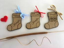 stocking gift tags personalised christmas name ornament