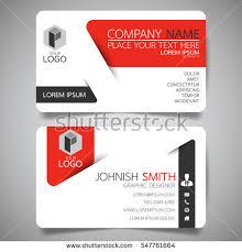 modern creative business card name stock vector 547761664
