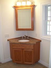 corner medicine cabinet vintage neutral flax bathroom shows corner vintage wooden vanity set with