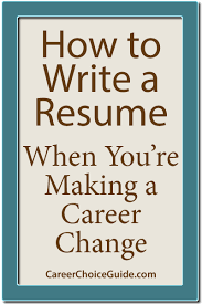 The Best Format For A Resume by Career Change Resume Sample