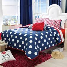 Red And White Comforter Sets Navy Blue U0026 White Dots Comforter Set Red Second View Guarantee