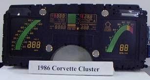 corvette instrument cluster repair repair station for 1985 version of the corvette digital dash cluster