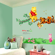 desain kamar winnie the pooh lovely cartoon wall stickers for kids rooms wall decals girls