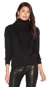 black fringe sweater callahan fringe turtleneck sweater in black revolve
