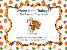 where is the turkey thanksgiving prepositions by allen