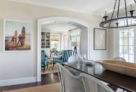 Kate Jackson Interior Design Coastal White Kitchen With Navy Blue Island Home Bunch