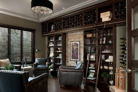 built in wine rack wine cellar contemporary with stone wall dark