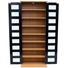 Media Storage Shelves by Manhattan Black Glass 344 Cd 128 Dvd Blu Ray Media Storage
