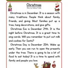 christmas reading comprehension worksheet