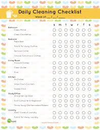 cleaning bedroom checklist daily cleaning checklist printable mom it forwardmom it forward