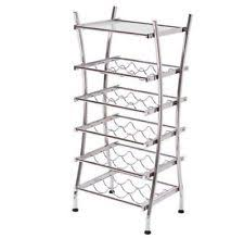 chrome wine racks 1 9 bottle capacity ebay